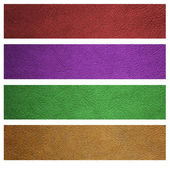 Leather texture banner — Stock Photo