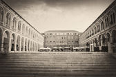 The Mediterranean square,printed an vintage paper — Stockfoto