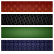 Weaved banner set — Stock Photo