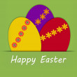 Happy Easter egg card — Stock Photo