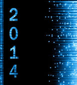 New Year 2014 blue background — Stock Photo