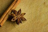 Nise and cinnamon — Stock Photo