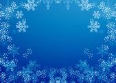 Rám s sněhové vločky — Stock fotografie