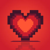 Beautifull pixel heart — Stock Vector