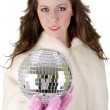 Young woman with disco ball — ストック写真 #12175636