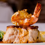Roast pork and shrimp dish — Stock Photo #12531897