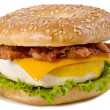 Bacon Egg and Cheese Breakfast — Stockfoto