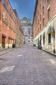 Street in Old Montreal hdr — Stock Photo
