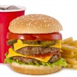 Burger, french fries and cola — Stock Photo #13986598