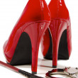 High heels and riding crop — Stock Photo #18027691