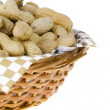 Basket of peanuts - Stock Photo