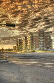 城市景观,人类发展报告 》 — 图库照片
