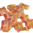 Fried bacon strips - Stock Photo
