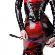 Stock Photo: Womdressed in dominatrix clothes