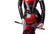 Woman dressed in dominatrix clothes — Foto de Stock