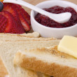 Bread with jam — Stock Photo
