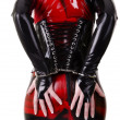 Stock Photo: Womdressed in latex clothes