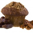 Date and nuts muffin — Stock Photo