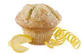 Lemon poppy seed muffin — Stock Photo