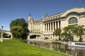 The rideau canal in Ottawa — Stock Photo