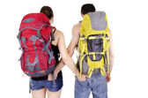 Couple in expedition — Stock Photo