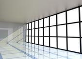 Empty white room with the window — Stock Photo