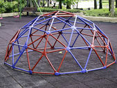Colorful geodesic dome — Stock Photo
