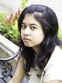 Teenager girl sulks — Stock Photo
