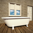 Retro bathroom — Stock Photo