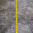 Measuring Tape on Concrete Floo - Foto de Stock