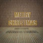 Merry Christmas with limestone wall — Stock Photo