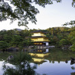 Kinkakuji Temple, Famous Golden Pavilion at Kyoto, Japan. — Foto Stock #18717981