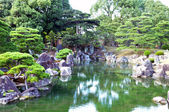 Garden with pond in japanese style — Stock Photo