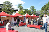 KYOTO- OCT 22: Tourist visit at Nijo castle, a famous tourist at — Stock Photo