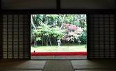 Japanese garden in the Koto-in temple - Kyoto, Japan — Stock Photo