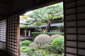 Japanese garden in the Koto-in a sub-temple of Daitoku-ji — Stock Photo