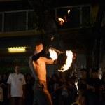 "BANGKOK - DEC 16: Phra Athit Walking Street, ""Rattanakosin recall"" festival — Stock Photo #20665675"