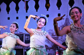 BANGKOK - DEC 16:Traditional Thai Dance at Phra Athit Street — Stock Photo