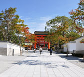 Beautiful Red Torii in fujimi-inari in japan — Fotografia Stock