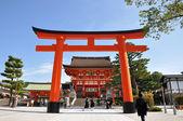 Fushimi inari taisha svatyně - kyoto, Japonsko — Stock fotografie