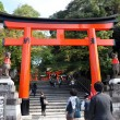 Torii Gates at Fushimi Inari Shrine, Kyoto, Japan  — Stock Photo