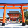 Wooden Torii Gates at Fushimi Inari Shrine, Kyoto — Stock Photo #21545423