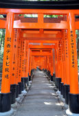 Famous bright orange torii gates of Fushimi Inari Taisha Shrine — Foto Stock