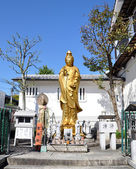 Golden Statue of Guan Yin (goddess of mercy) — Stock Photo