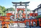 Estátua da deusa no santuário de fushimi inari em kyoto — Foto Stock