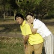 Senior couple enjoying in park — Stock Photo #21780267