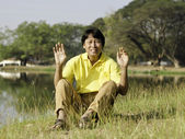 Portrait of a happy asian man — Stock Photo