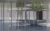 Interior of conceptual modern building — Stock Photo