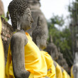 Ancient Buddhstatues at Wat Yai Chai Mongkol, Ayutthaya, Thail — Stock Photo #24028397