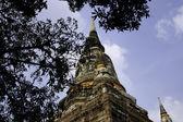 Old big pagoda in mongkol temple, ayutthaya province, Thailand — Stock Photo